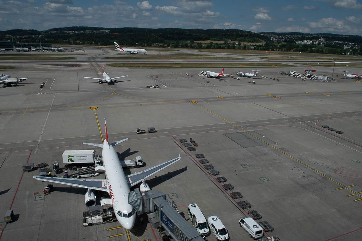 Flughafen Zürich Vorfeld