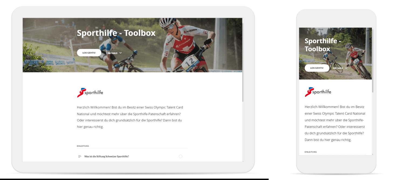 Screenshot Sporthilfe Toolbox