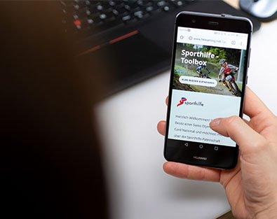 Sporthilfe Toolbox auf Smartphone
