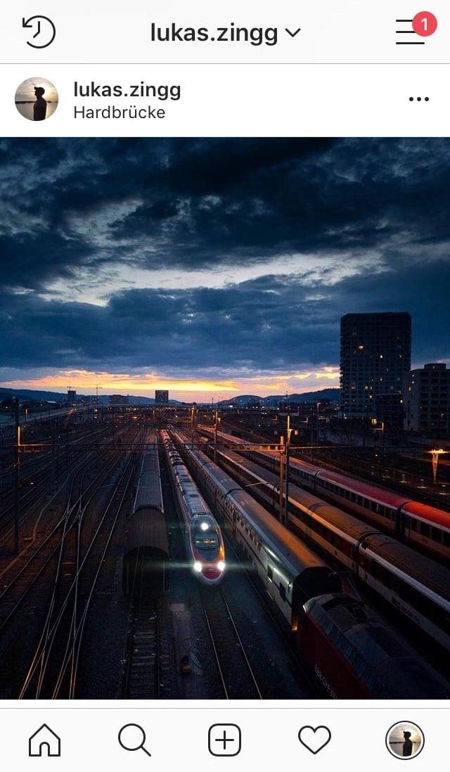 Diverse Züge in Zürich