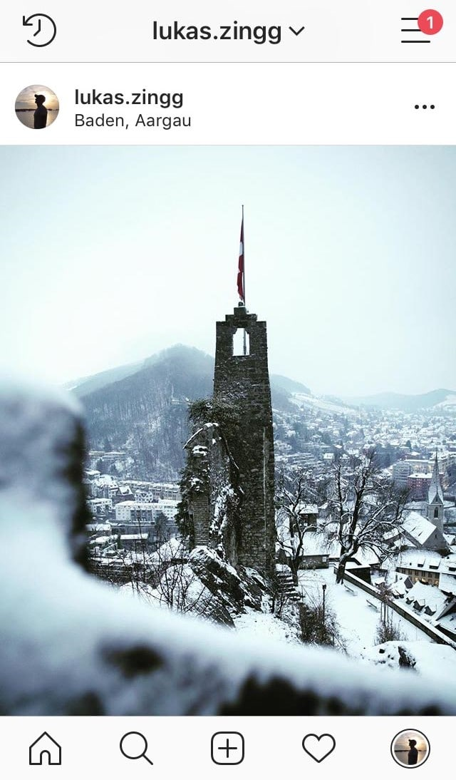 Ruine Stein im Winter