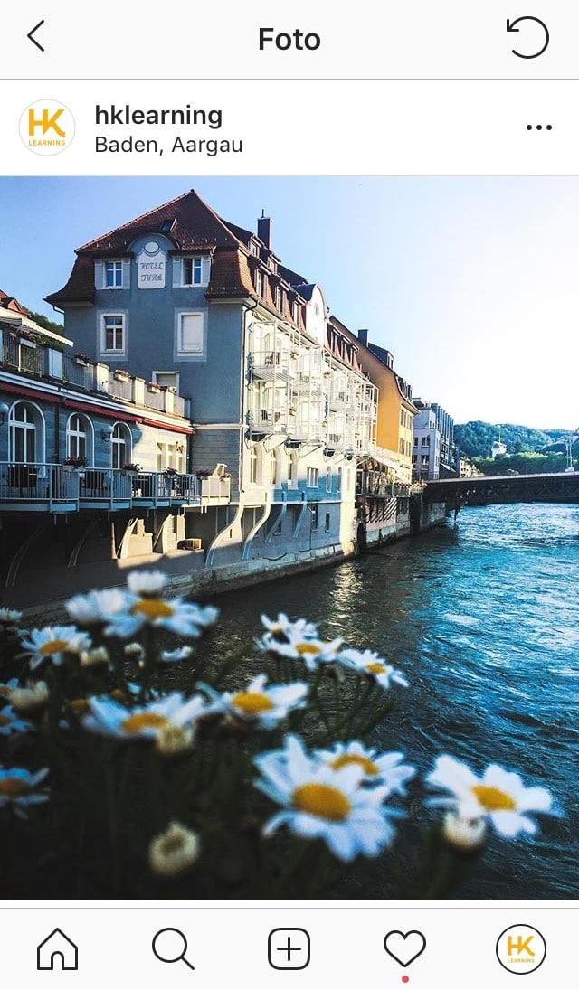 Badener Häuser am Fluss