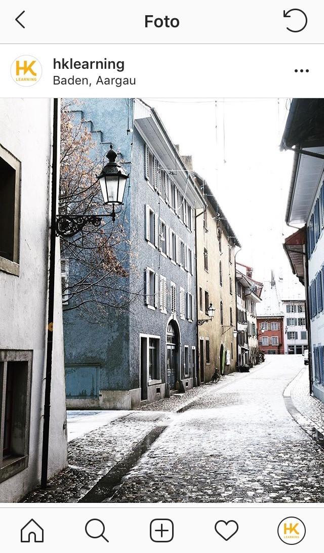 Badener Altstadt im Winter