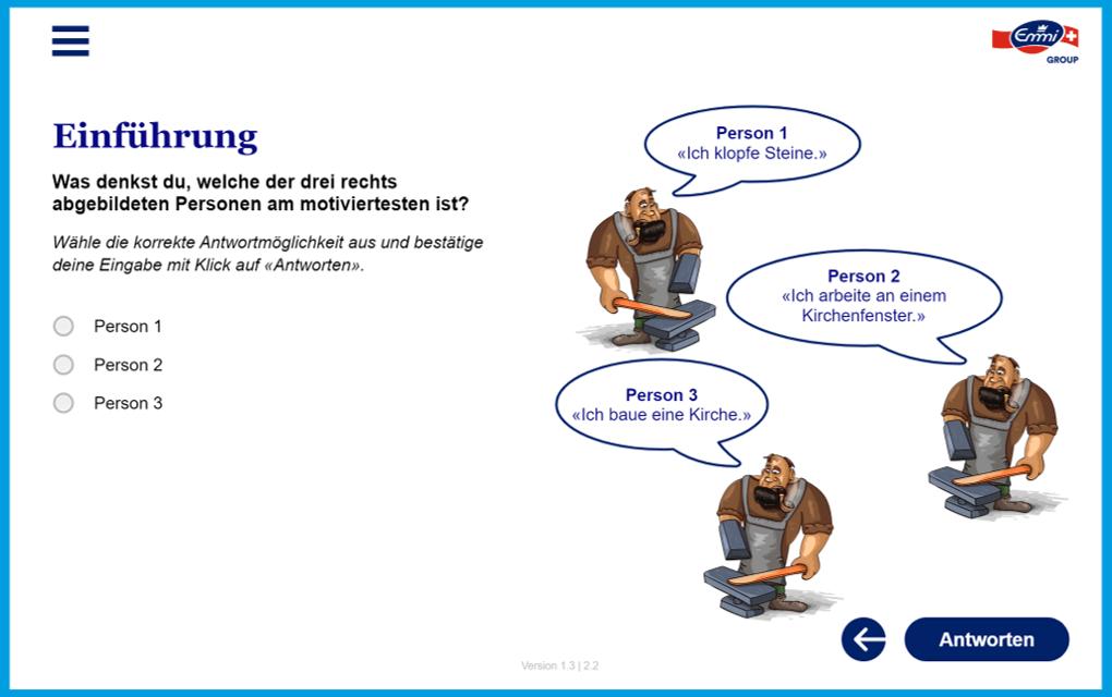Screenshot Lernplattform Emmi Einführung