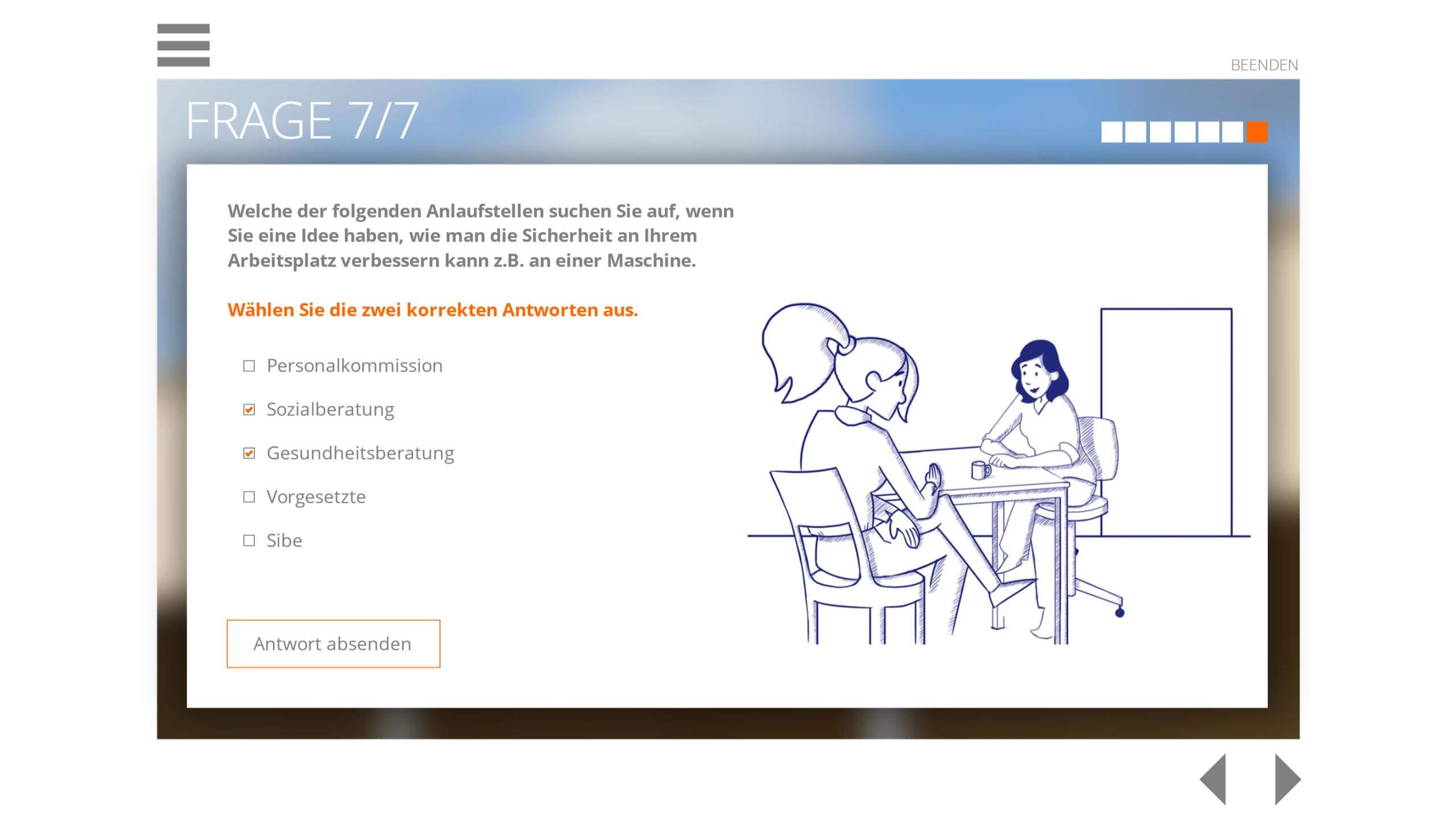 Lernplattform Arbeitssicherheit & Gesundheitsschutz