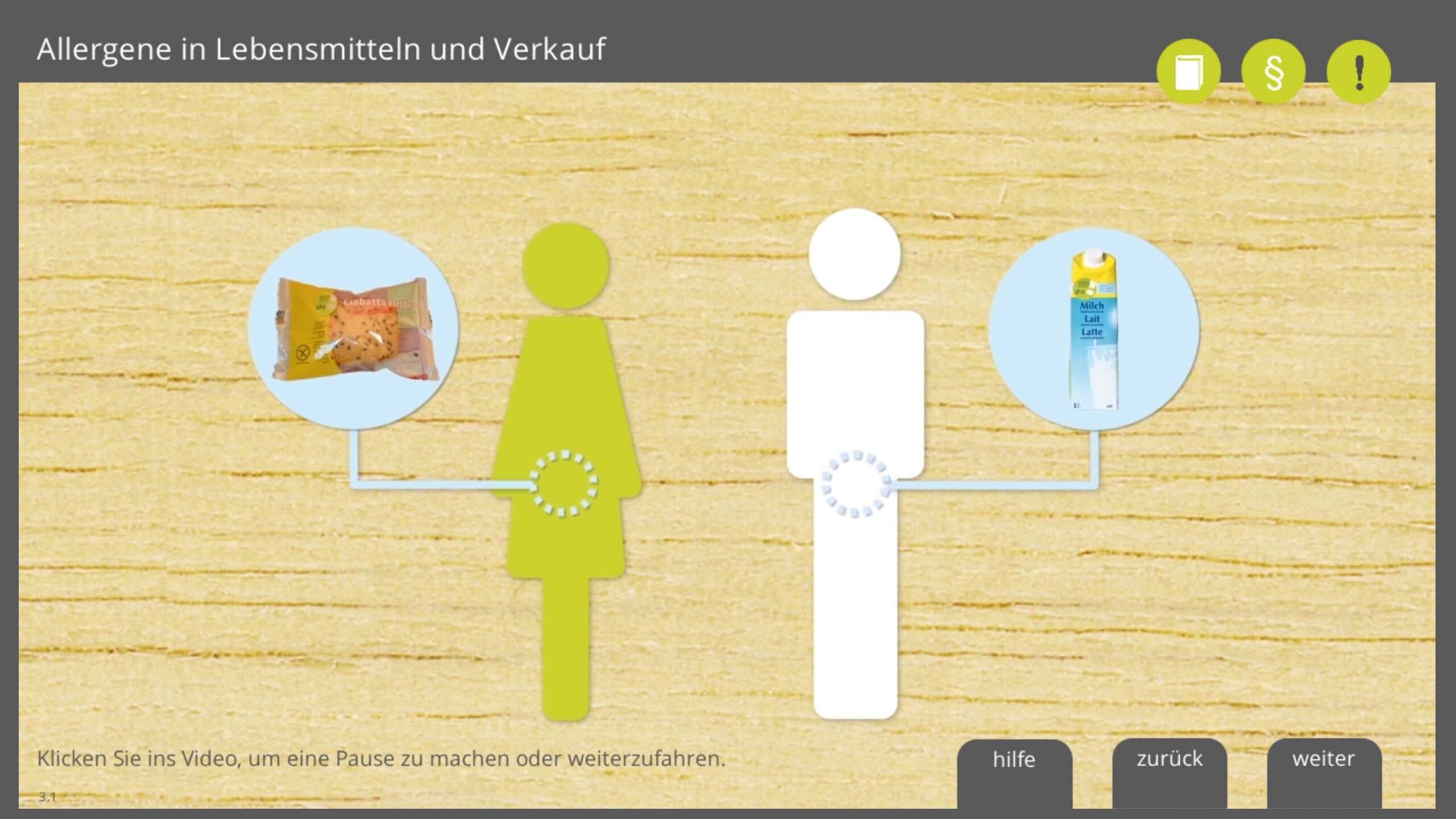 Lernprogramm Allergene in Lebensmitteln