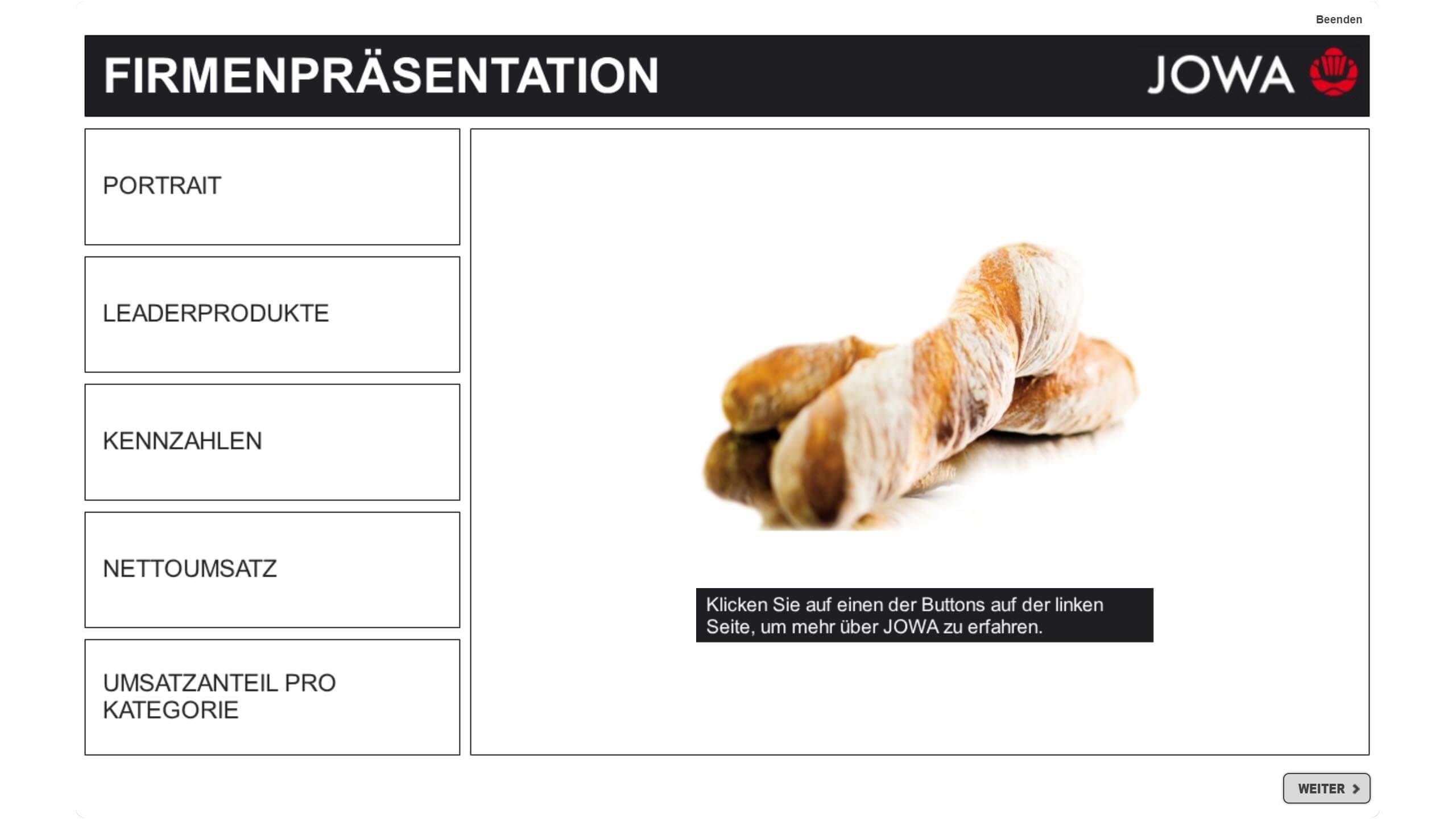 Degustationsartikel Brot