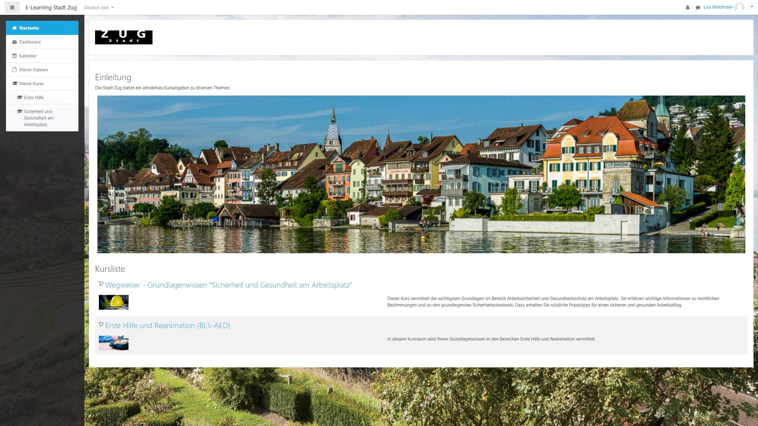E-Learning Stadt Zug