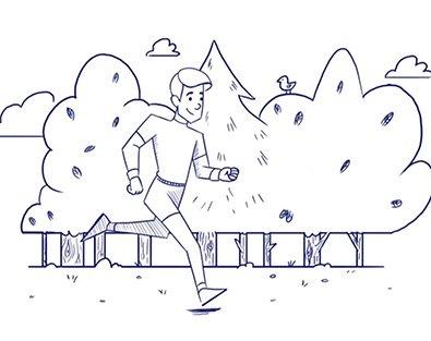 Zeichnung Person beim Joggen