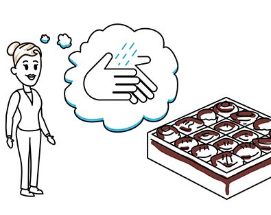 Zeichnung zum Thema Händewaschen