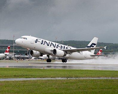Flughafen Zürich Finnair hebt ab