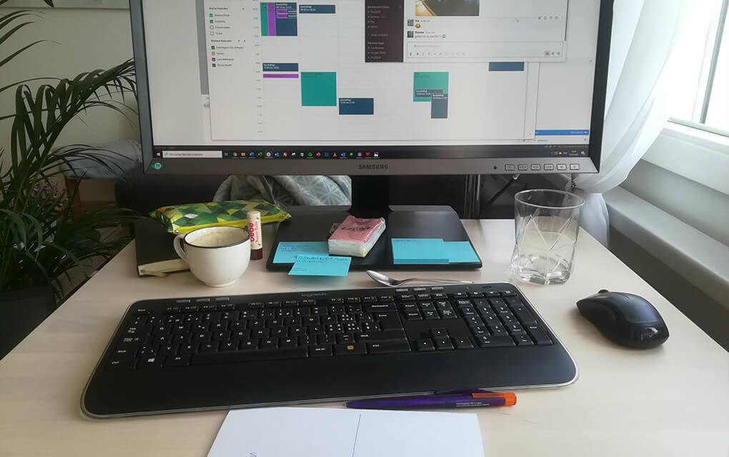 Arbeitsplatz Home Office