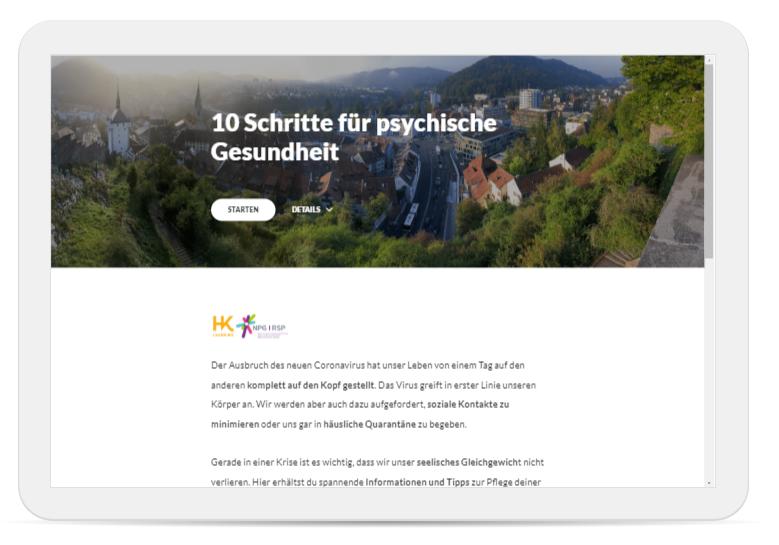 Screenshot 10 Schritte für pasychische Gesundheit