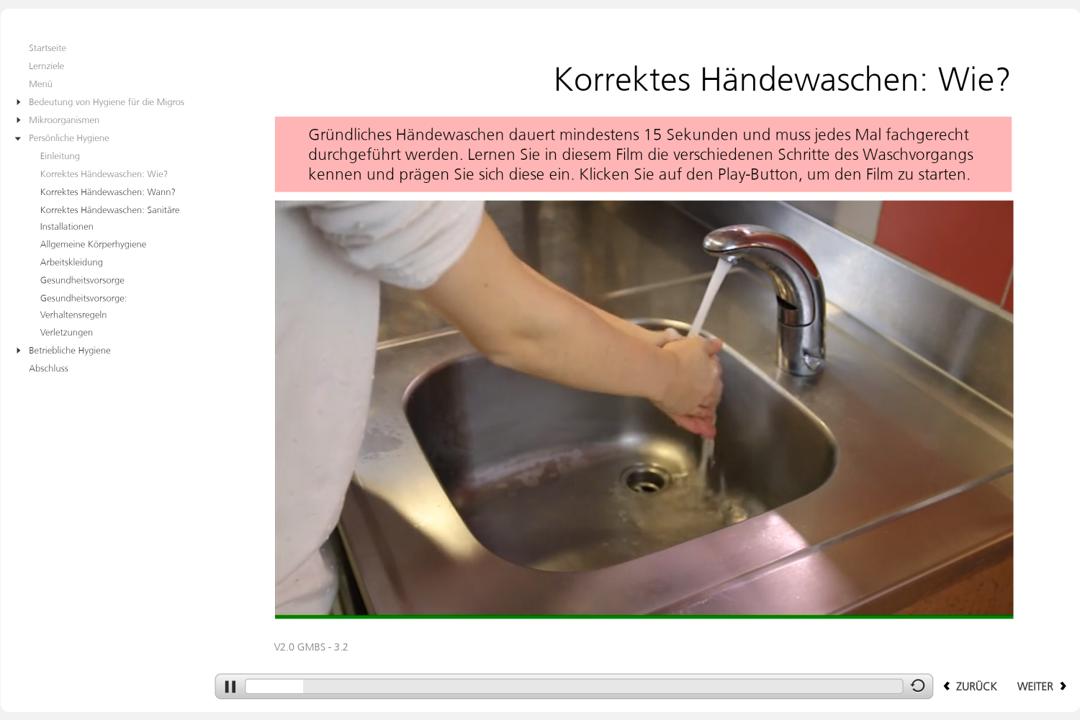 Hygiene Hände unter dem Wasserhahn