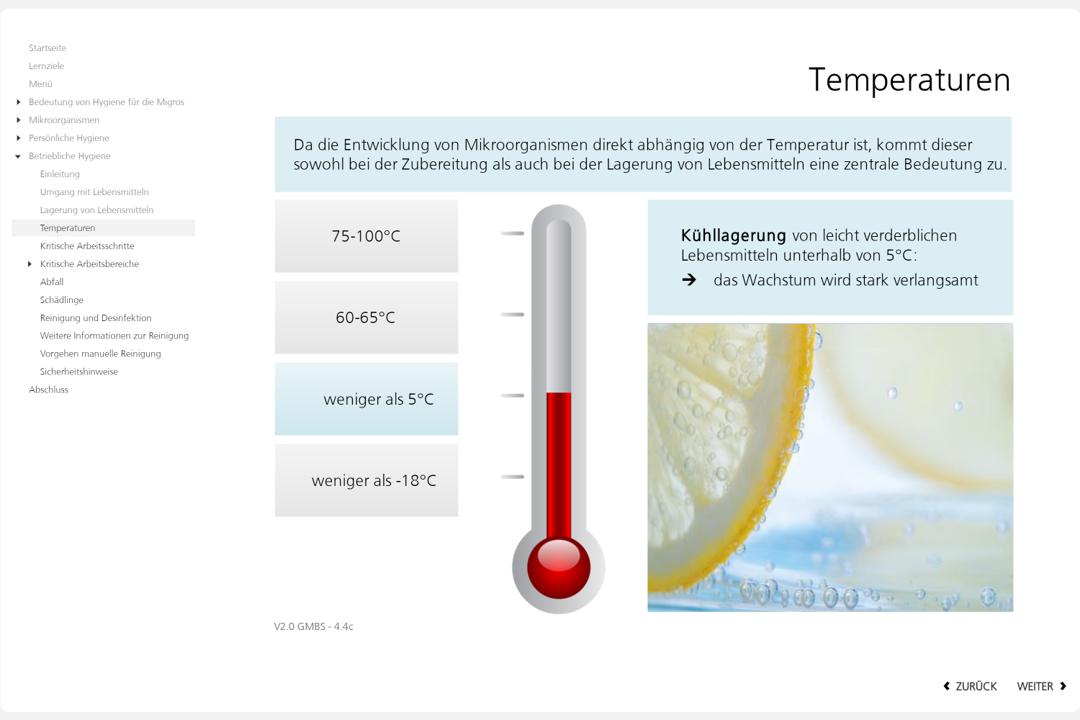 Hygiene Grafik zum Thema Kühllagerung