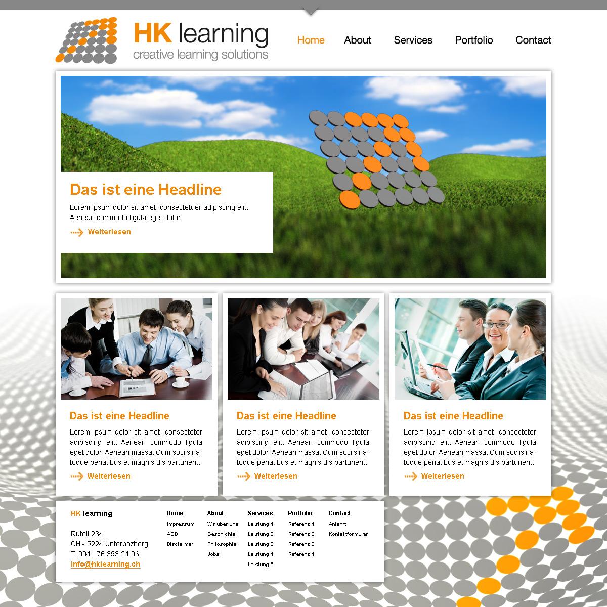 Entwurf der ersten Website