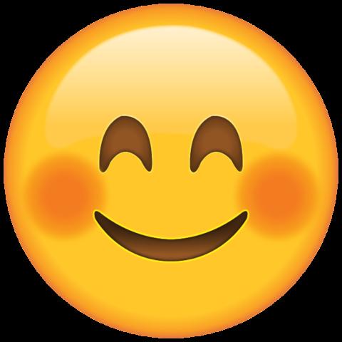 Lachendes zufrieden