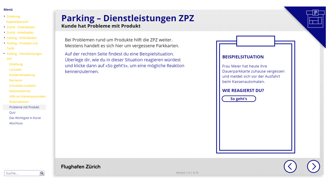 Zentrale Parking und Zutritt